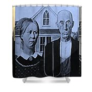 American Gothic In Colors Shower Curtain