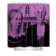 American Gothic In Pink Shower Curtain