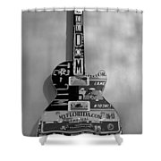 American Guitar In Black And White1 Shower Curtain