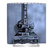American Guitar In Cyan Shower Curtain