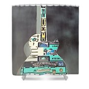 American Guitar In Neagtive Shower Curtain