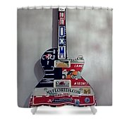 American Guitar Shower Curtain