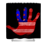 American Hand Shower Curtain