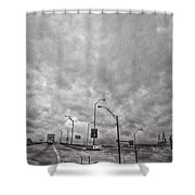 American Highway Shower Curtain