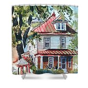 American Home With Children's Gazebo Shower Curtain by Kip DeVore