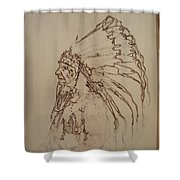 American Horse - Oglala Sioux Chief - 1880 Shower Curtain