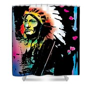 American Indian Silo Shower Curtain
