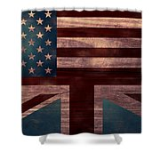 American Jack I Shower Curtain by April Moen