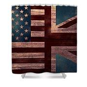 American Jack II Shower Curtain by April Moen