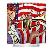 American Jazz Man Shower Curtain