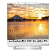 American Lake 2010 Shower Curtain