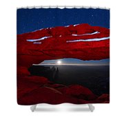 American Moonrise Shower Curtain