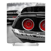 American Muscle Shower Curtain by Gill Billington