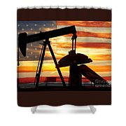 American Oil  Shower Curtain by James BO  Insogna