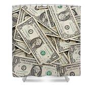 American One Dollar Bills Shower Curtain