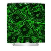 American One Dollar Bills Pop Art Shower Curtain