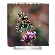 American Painted Lady Butterfly 2014 Shower Curtain