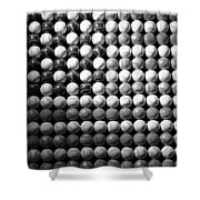 American Pastime In Black And White Shower Curtain