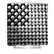 American Pastime In Black And White1 Shower Curtain