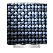 American Pastime In Cyan Shower Curtain