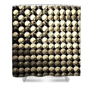 American Pastime In Sepia Shower Curtain