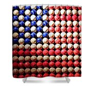 American Pastime Shower Curtain