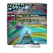 American Rainbow Shower Curtain