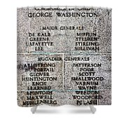 American Revolutionary War Generals Shower Curtain