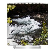 American River's Levels Shower Curtain