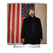 American Ruffles Shower Curtain