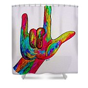 American Sign Language I Love You Shower Curtain