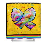 American Sign Language Love Shower Curtain