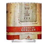 American Standard - Vintage Fuel Pump - Casper Wyoming Shower Curtain