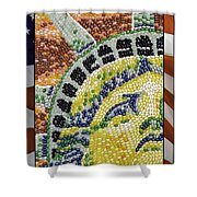 American Statue Of Liberty Mosaic  Shower Curtain