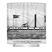 American Steamboat, 1827 Shower Curtain