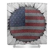 American Sunflower Power Shower Curtain