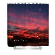 American Sunset Shower Curtain