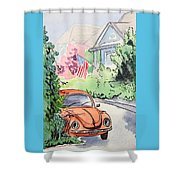 American Town Shower Curtain