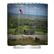 American Wagon Shower Curtain