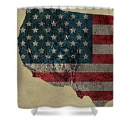 American West Topography Map Shower Curtain