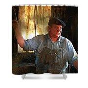 American Workingman Shower Curtain