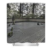 American Zen Rock And Raked Gravel Garden - Portland Oregon Shower Curtain