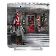 Americana - A Tribute To Rockwell - Westfield Nj Shower Curtain by Mike Savad