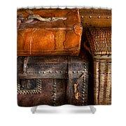 Americana - Emotional Baggage  Shower Curtain
