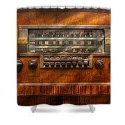 Americana - Radio - Remember What Radio Was Like Shower Curtain