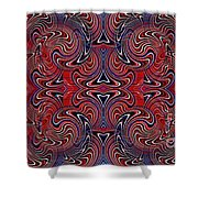 Americana Swirl Banner 1 Shower Curtain