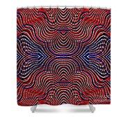 Americana Swirl Design 10 Shower Curtain