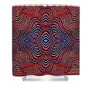 Americana Swirl Design 11 Shower Curtain by Sarah Loft