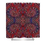 Americana Swirl Design 2 Shower Curtain