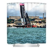 America's Cup And Alcatraz Shower Curtain